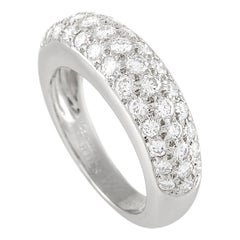 Cartier 18K White Gold Diamond Band Ring