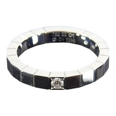 Cartier 18k White Gold Diamond Lanieres Band Ring - 53 / 6.5
