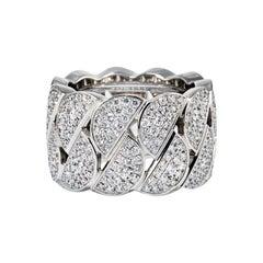 Cartier 18K White Gold Diamond Pave La Dona Ring