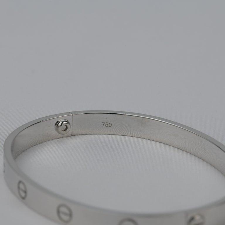 Cartier 18K White Gold Love Bracelet 1