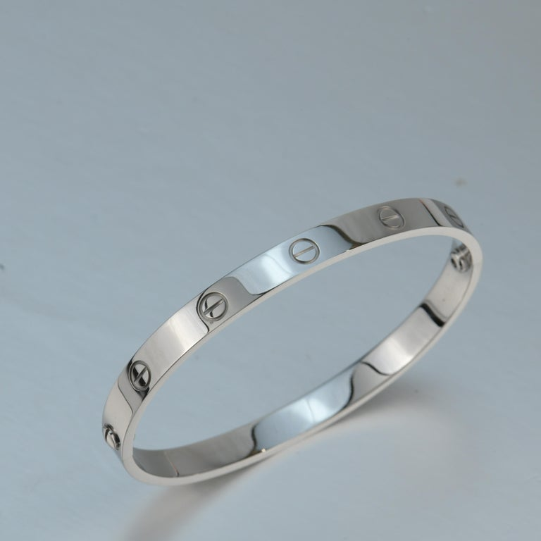 Cartier 18K White Gold Love Bracelet 2