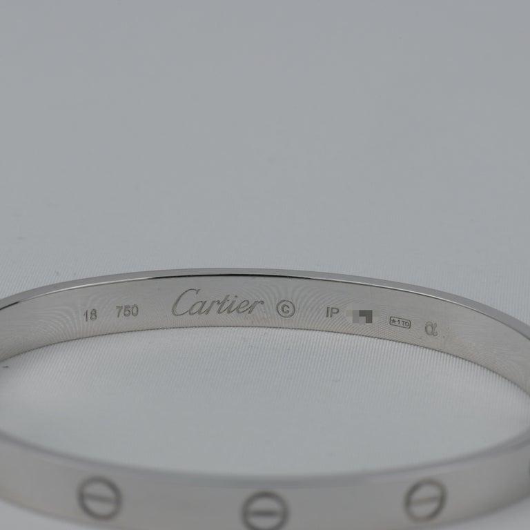 Cartier 18K White Gold Love Bracelet 3