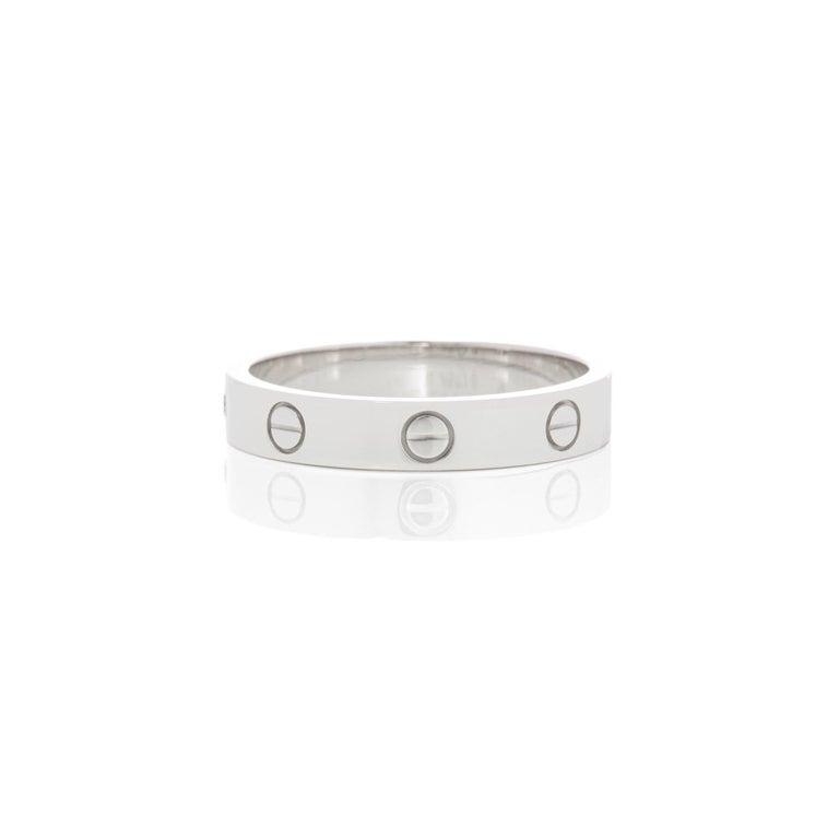Contemporary Cartier 18 Karat White Gold Love Ring
