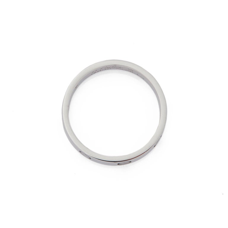 Cartier 18 Karat White Gold Love Ring In Excellent Condition In Bishop's Stortford, Hertfordshire