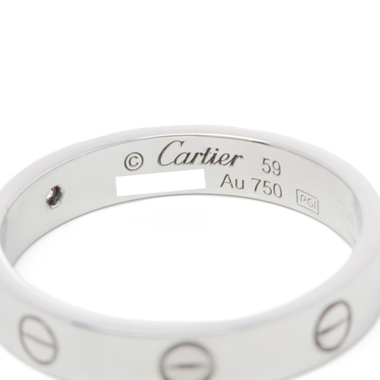 Women's Cartier 18 Karat White Gold Love Ring