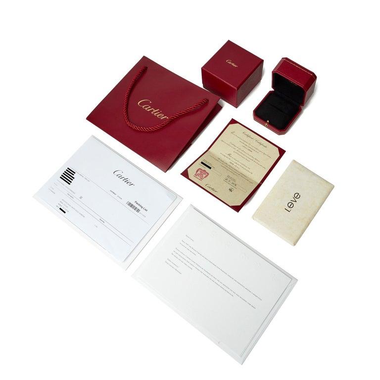 Cartier 18 Karat White Gold Love Ring 1