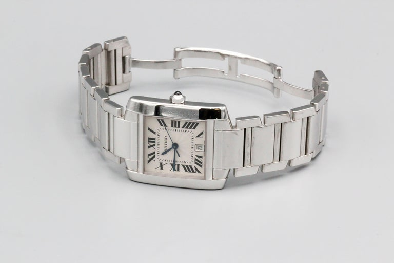 Very handsome 18K white gold men's wrist watch from the
