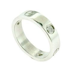 Cartier 18 Karat White Gold with Diamonds Love Ring