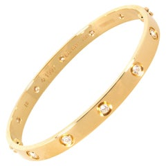 Cartier 18 Karat Yellow Gold 10 Diamonds Love Bracelet