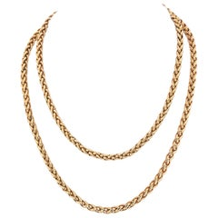 Cartier 18k Yellow Gold French Link Chain Necklace