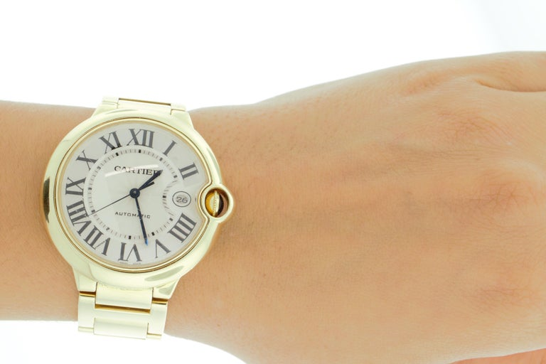 Cartier 18 Karat Yellow Gold Ballon Bleu Watch In Good Condition For Sale In New York, NY