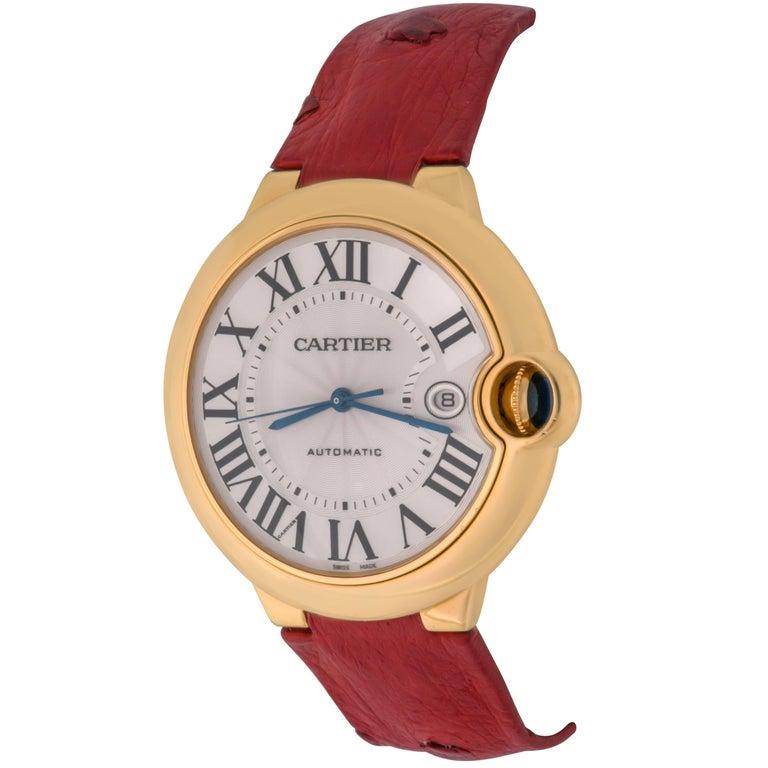 Cartier 18k Yellow Gold Ballon Bleu Automatic Wrist Watch Ref W6900551