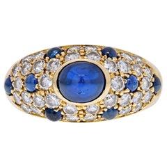 Cartier 18k Yellow Gold Cabochon Sapphire & Diamond Ring