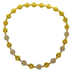 Cartier 18k Yellow Gold & Diamond Himalia Collection Choker Necklace Vintage