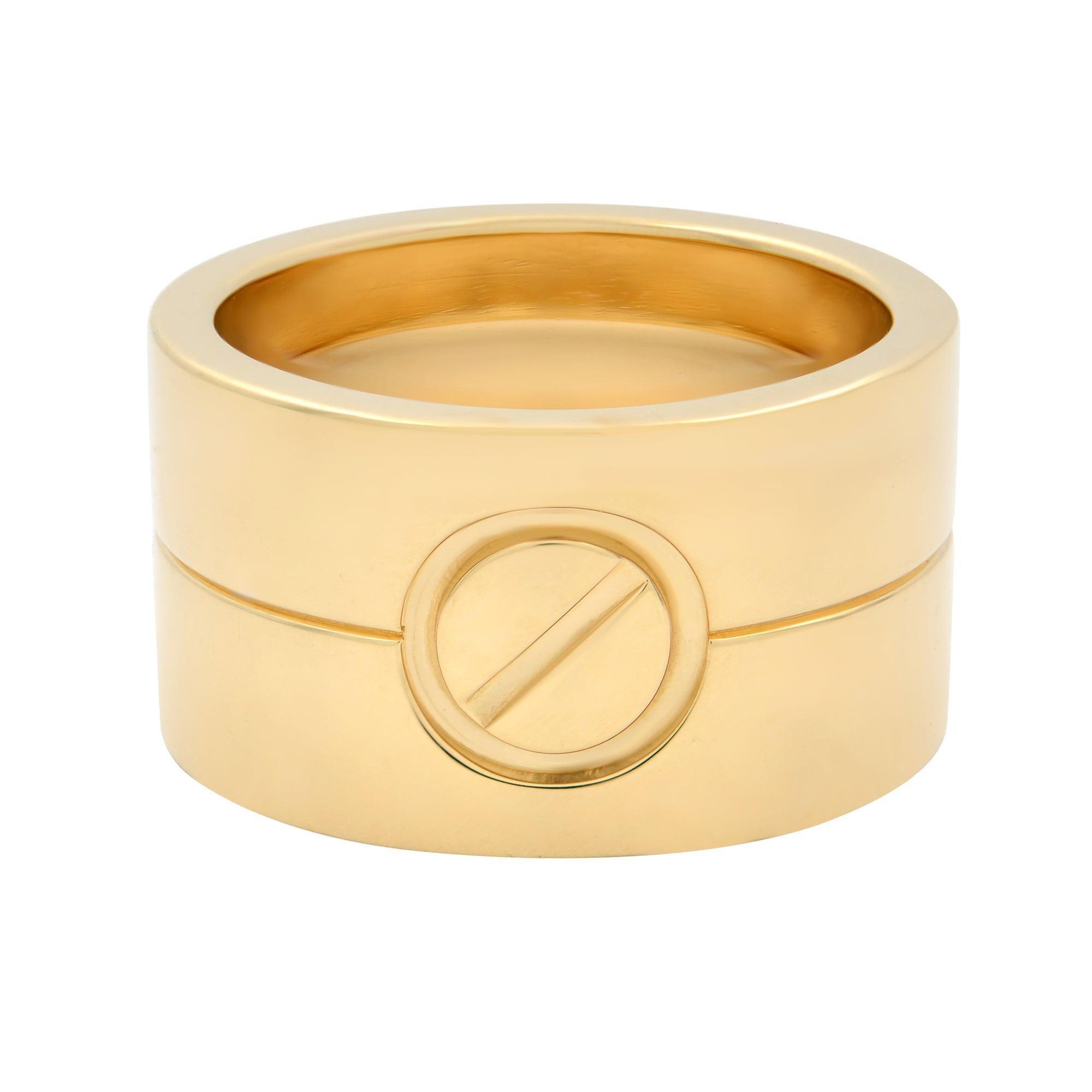 Cartier 18K Yellow Gold High Love Ring