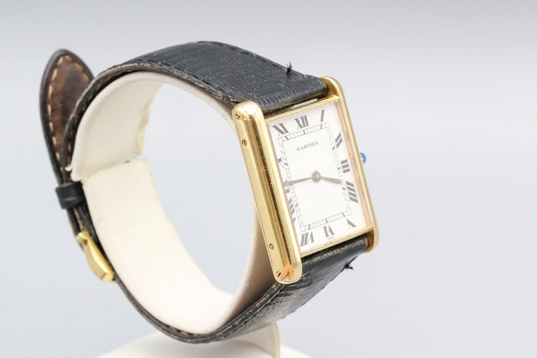 Very handsome 18K yellow gold men's wrist watch from the