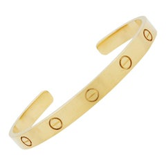 Cartier 18K Yellow Gold Love Cuff Bracelet