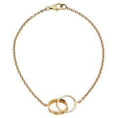 Cartier 18k Yellow Gold Mini Love Chain Bracelet
