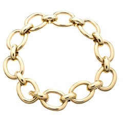 Cartier 18k Yellow Gold Oval Link Chunky Bracelet