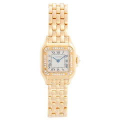 Cartier 18k Yellow Gold Panther Ladies Watch
