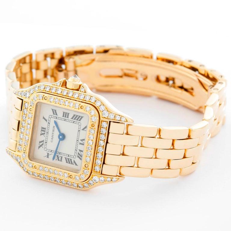 Women's Cartier 18 Karat Yellow Gold Panther Ladies Watch WF3254B9 1280