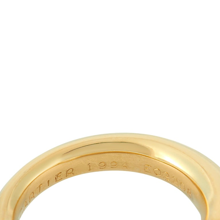 Cartier 18 Karat Yellow Gold Pearl Ring 1