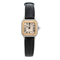 Cartier 18K Yellow Gold & Stainless Steel Panthere 1100 Women's Wristwatch 27 mm