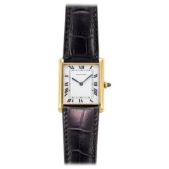 Cartier 18 Karat Yellow Gold Tank Jumbo Automatic Watch, 1970s