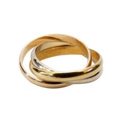 Cartier 18k Yellow, Rose and White Gold Trinity de Cartier Ring
