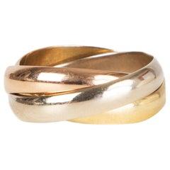 CARTIER 18k yellow white rose gold TRINITY MEDIUM Ring Size 52