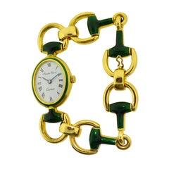 Cartier by Bueche Girod Yellow Gold Enamel Manual Wind Watch, circa 1970s
