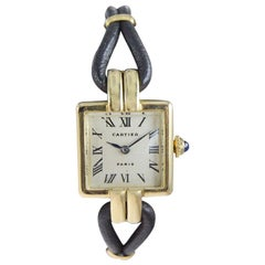 Cartier 18Kt. Yellow Gold Art Deco Ladies Watch with Original Hardware from 1930