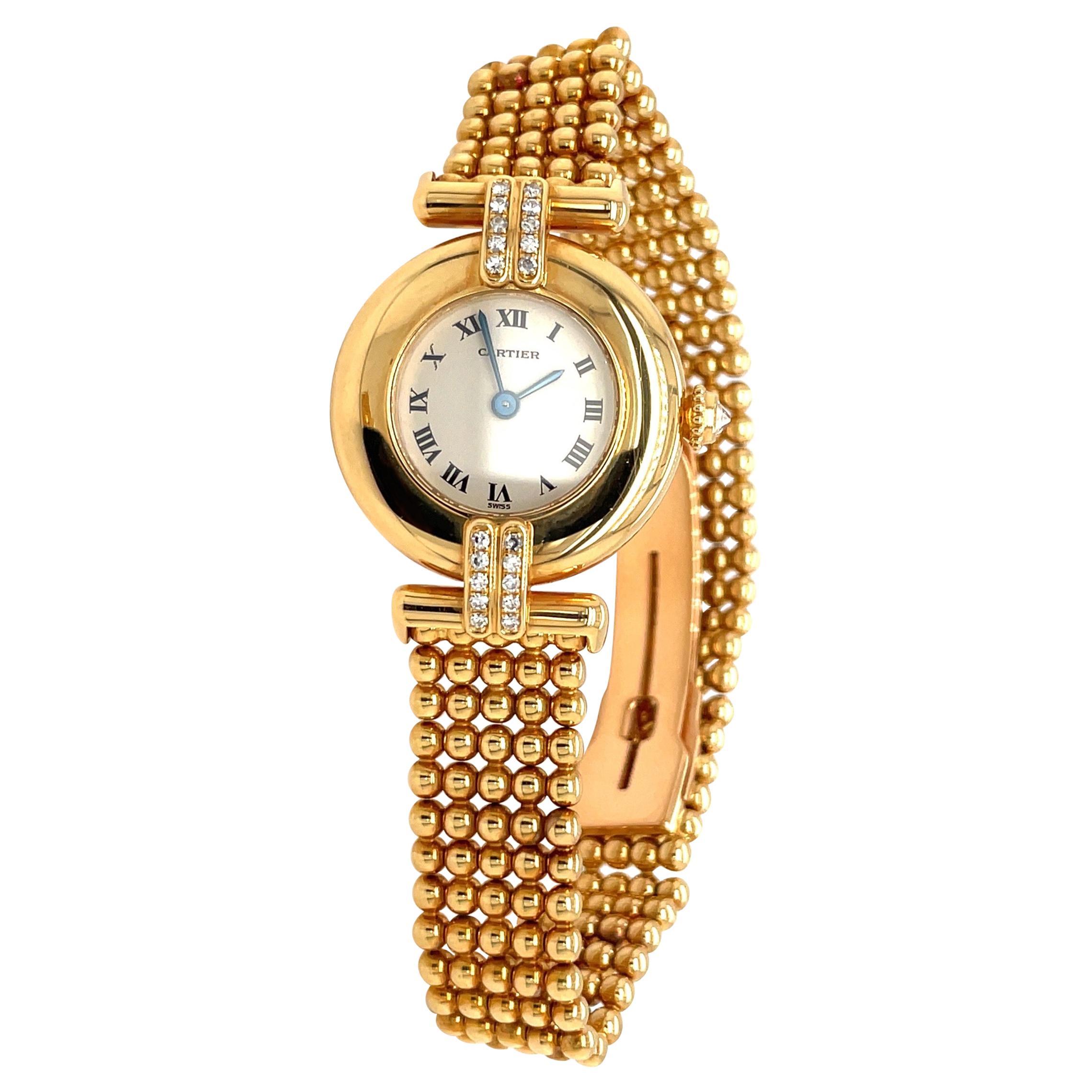 Cartier 18kt Yellow Gold Colisee Bracelet Watch