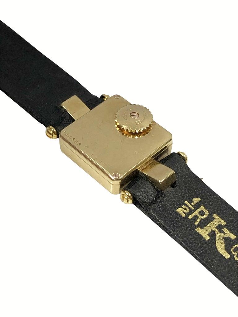 Art Deco Cartier 1930s EWC Gold Ladies Mechanical Wristwatch For Sale