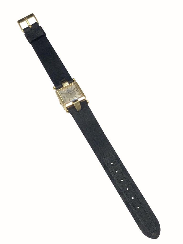 Women's Cartier 1930s EWC Gold Ladies Mechanical Wristwatch For Sale