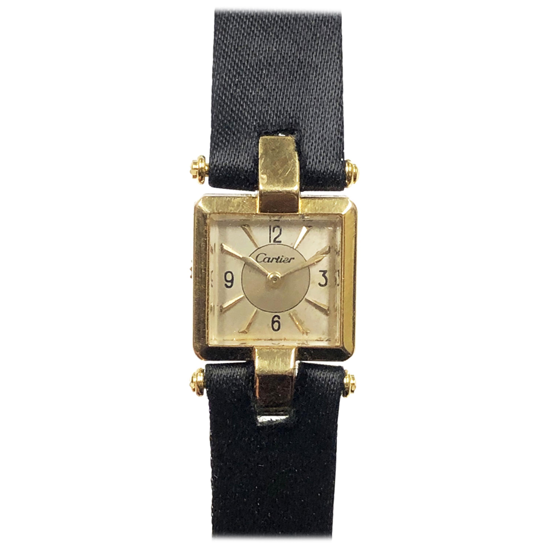 Cartier 1930s EWC Gold Ladies Mechanical Wristwatch