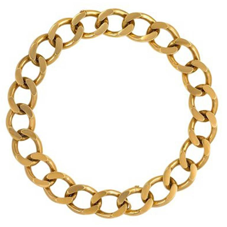 Cartier 1940s Gold Curblink Necklace, Convertible to a Pair of Bracelets