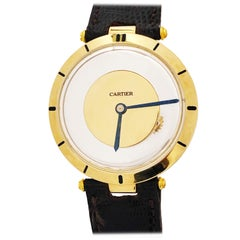 "Cartier 1950s ""Mystery"" Back Wind Gents Wristwatch"