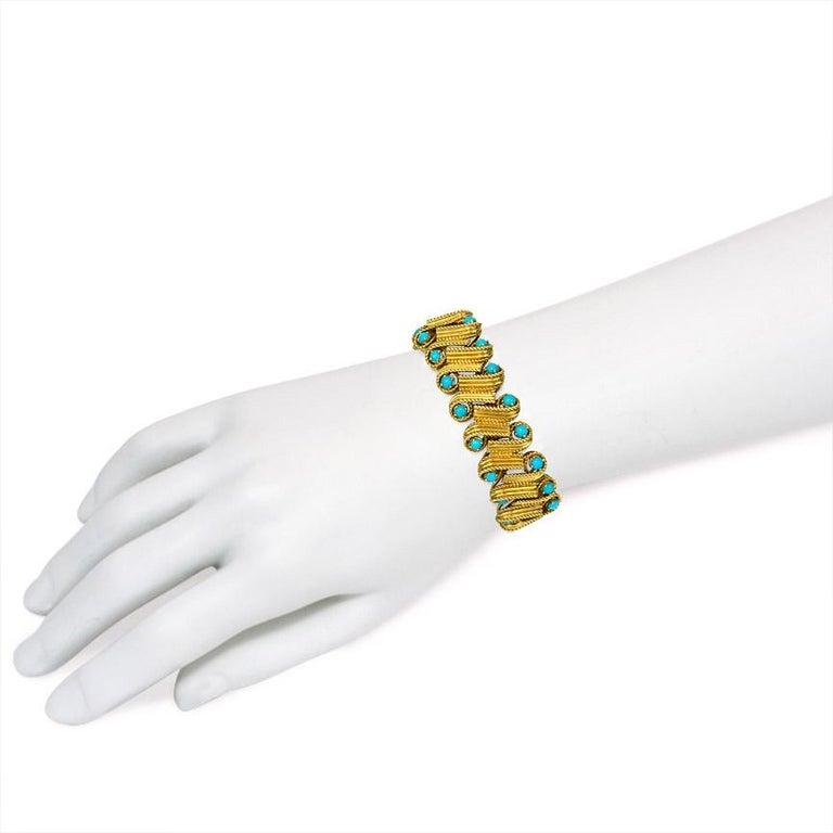 Cartier 1950s Turquoise Gold Bracelet 1