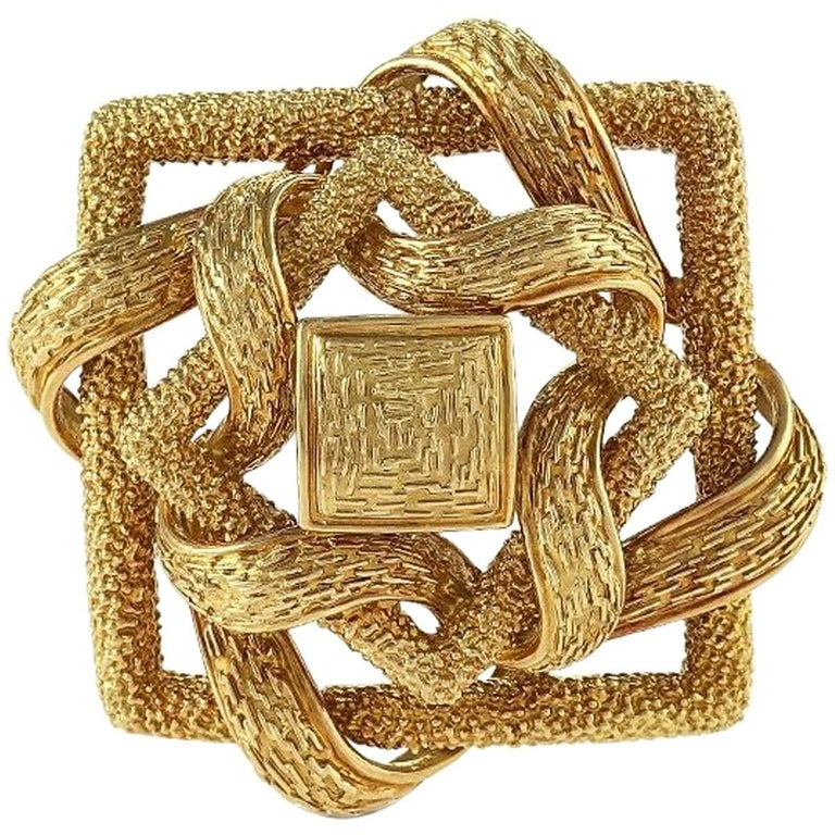 Cartier 1960s Gold Brooch For Sale