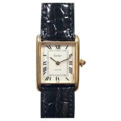Cartier 1970s Scarce Yellow Gold Classic Tank Automatic Wristwatch