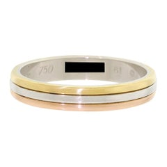 Cartier 1988 18 Karat 750 Gold Tri Color Trinity Wedding Band Ring