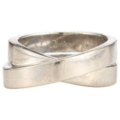 Cartier 1999 Crossover 18 Karat White Gold Ring