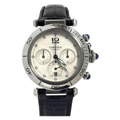 Cartier 2113 Pasha Chronograph Stainless Steel Automatic Wristwatch