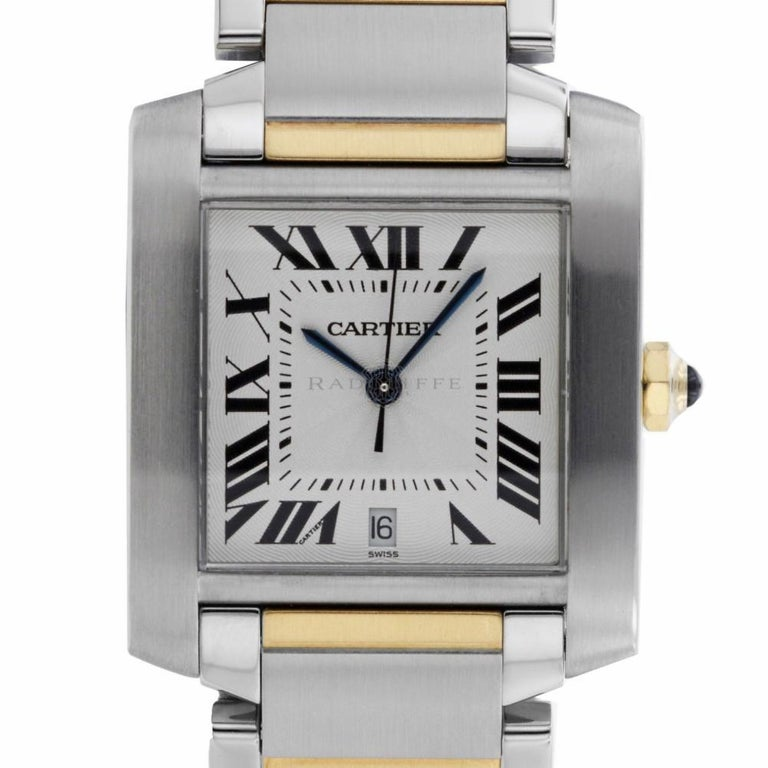 3f85c587ed1 Cartier 2302 Tank Francaise W51005Q4 Steel 18 Karat Yellow Gold Large  Automatic For Sale