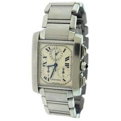 Cartier 2303 Tank Francaise Chrono Watch