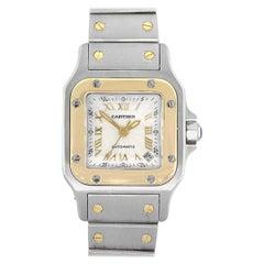Cartier 2423 Santos Galbee Silver Textured Dial Ladies Watch
