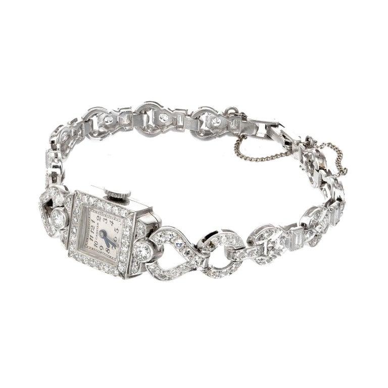 Cartier 2.50 Carat Diamond Platinum Ladies Vintage