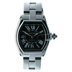 Cartier 2510 Stainless Steel Roadster Black Dial Automatic Watch