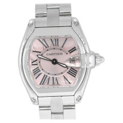 Cartier 2675 Roadster Pink Dial Ladies Watch